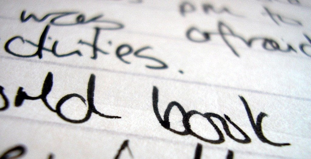 Handwriting via Morguefile