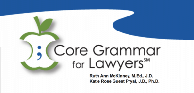 Core Grammar for Lawyers Banner