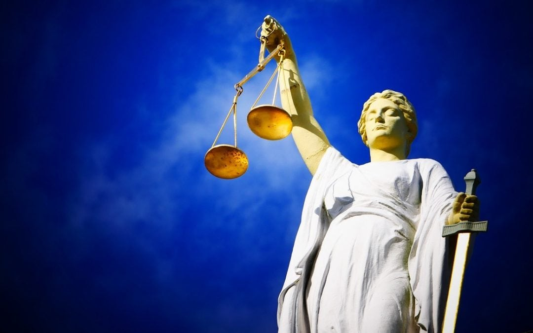 a photograph of lady justice