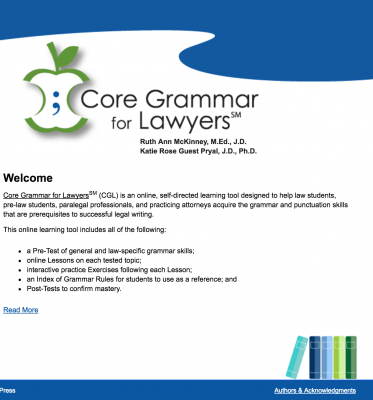 Core Grammar for Lawyers