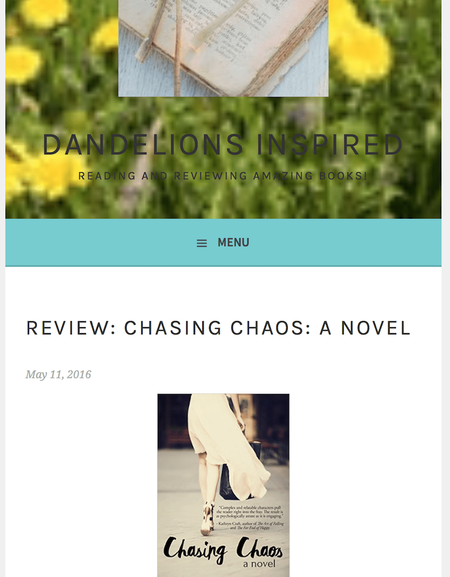 Dandelions Inspired: Review of CHASING CHAOS