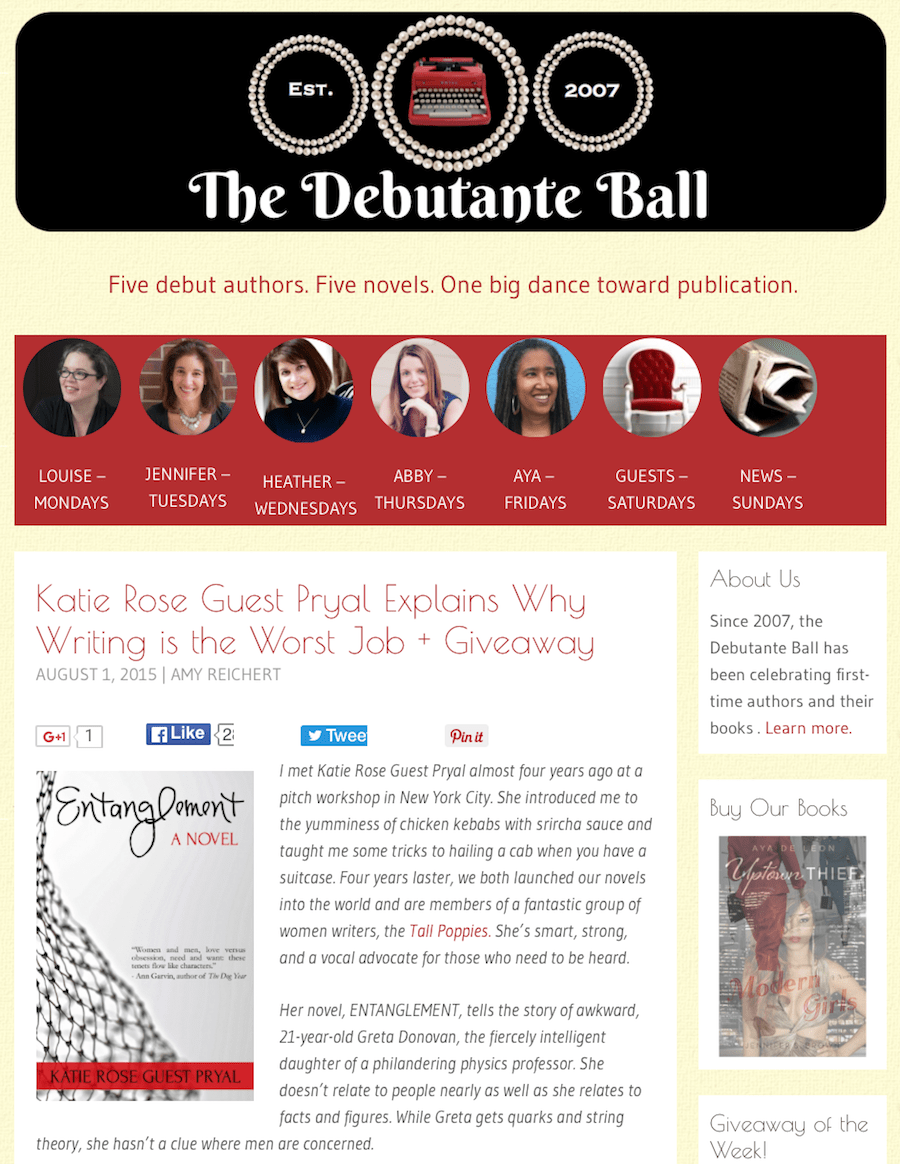 Debutante Ball: Why Writing Is the Worst Job in the World