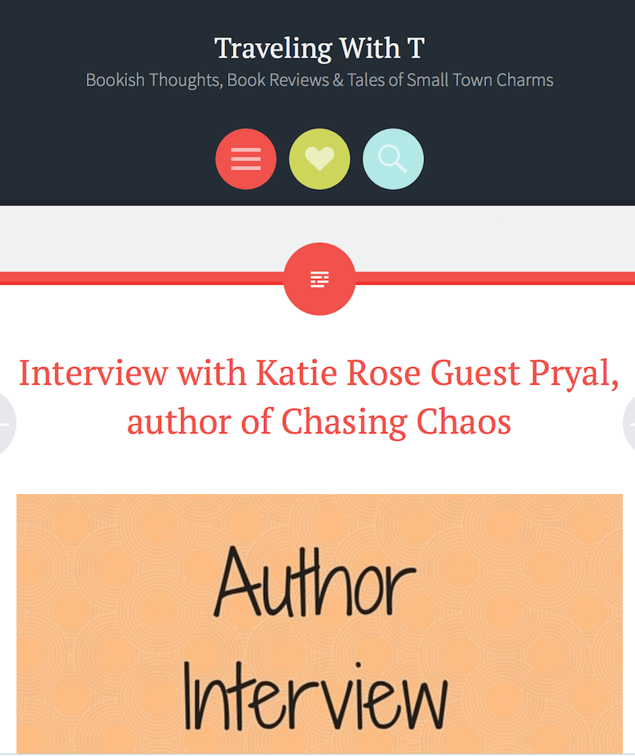 Traveling with T: CHASING CHAOS Interview
