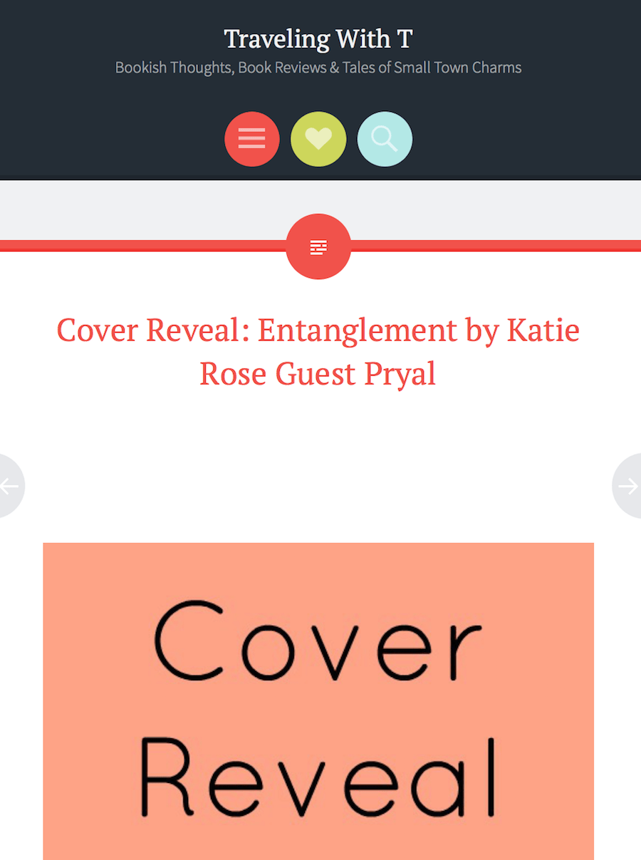 Traveling with T: ENTANGLEMENT Cover Reveal