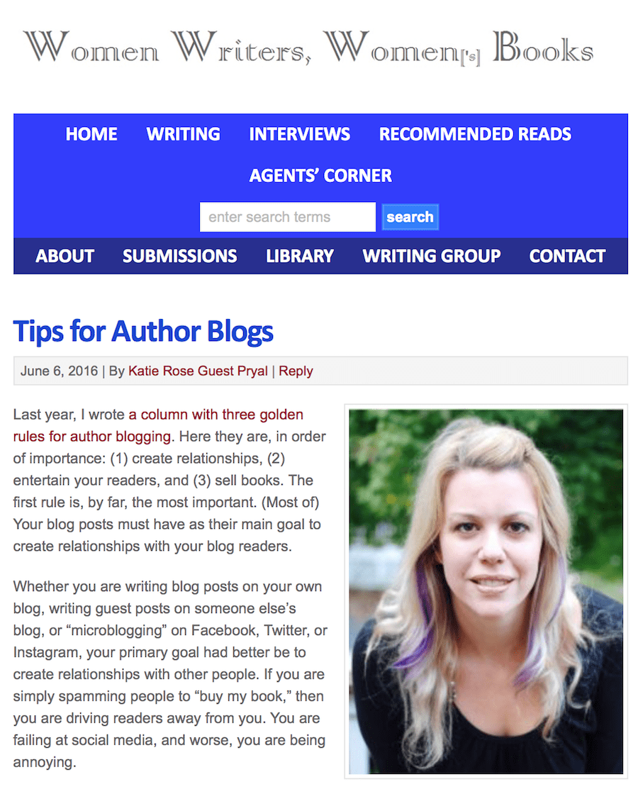 Women Writers Women's Books: Tips for Author Blogs