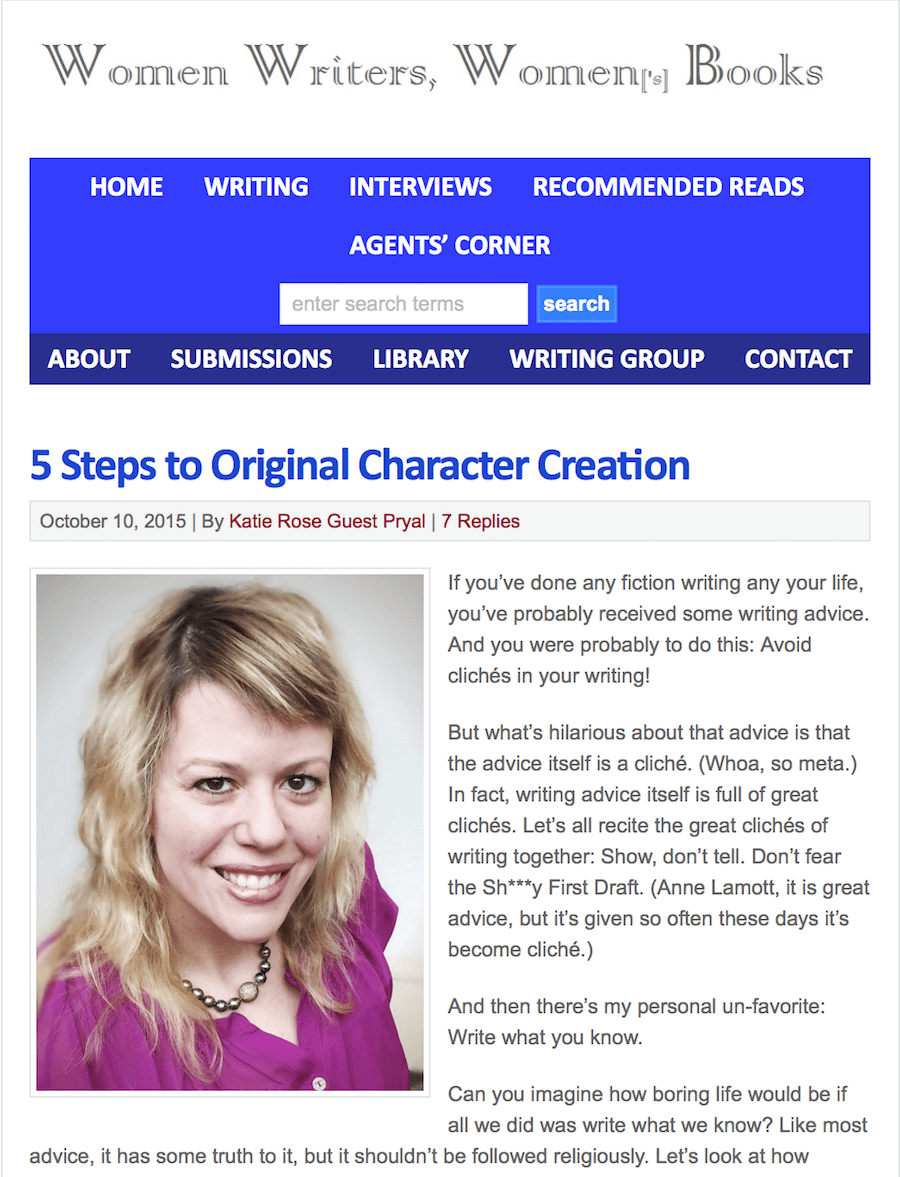 Women Writers, Women's Books: 5 Steps to Original Character Creation