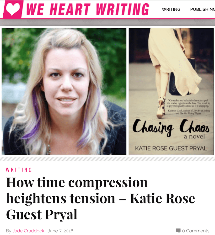 We Heart Writing: How Time Compression Heightens Tension
