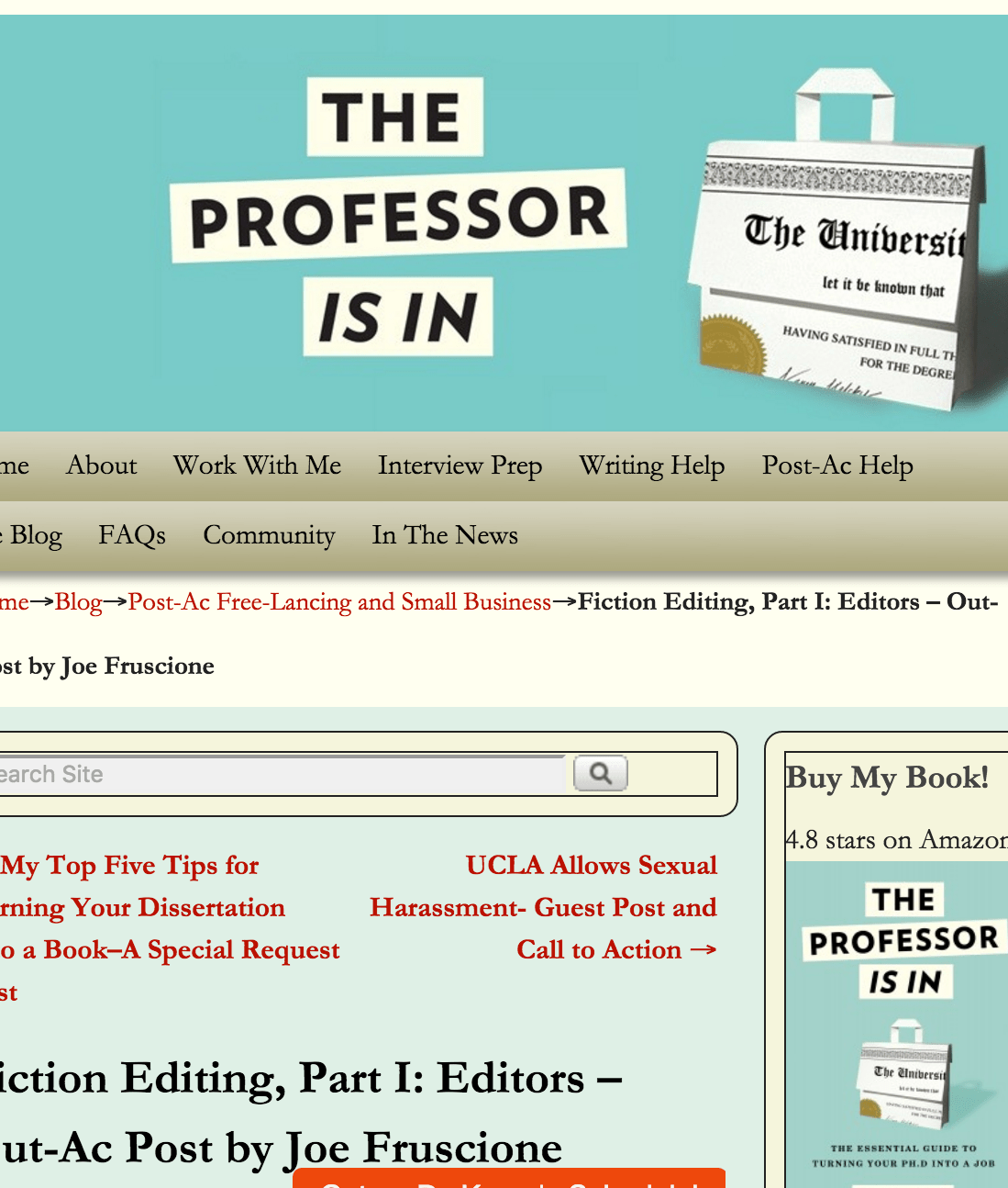 The Professor Is In: Fiction Editing, Part I [Interview]