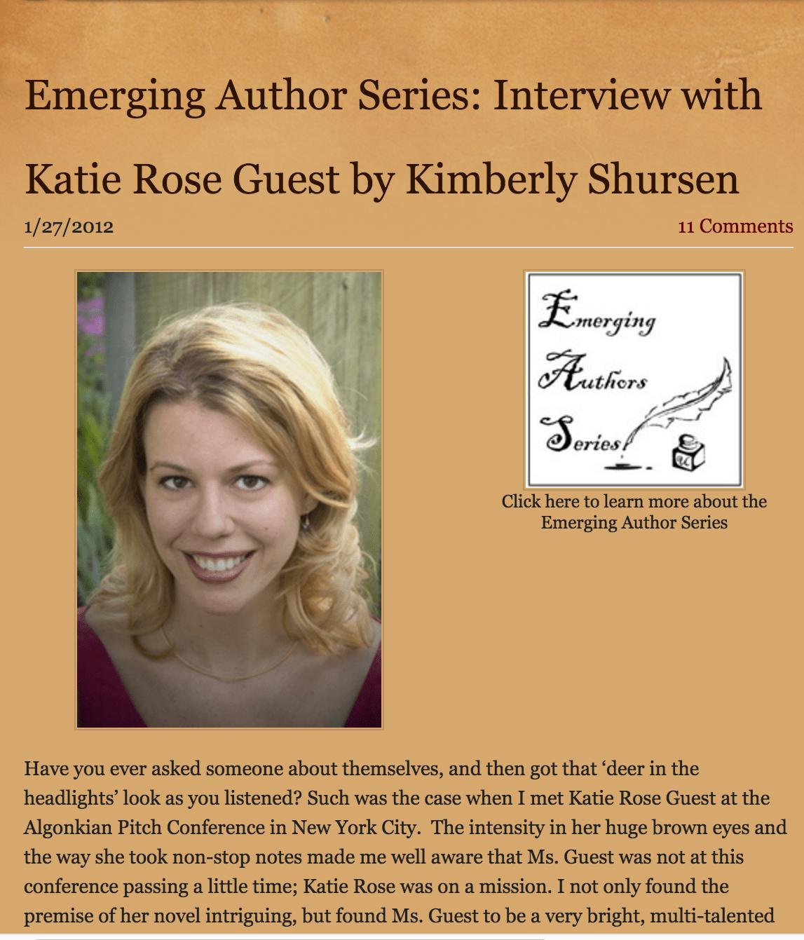Underground Book Reviews: Emerging Author Interview [Interview]