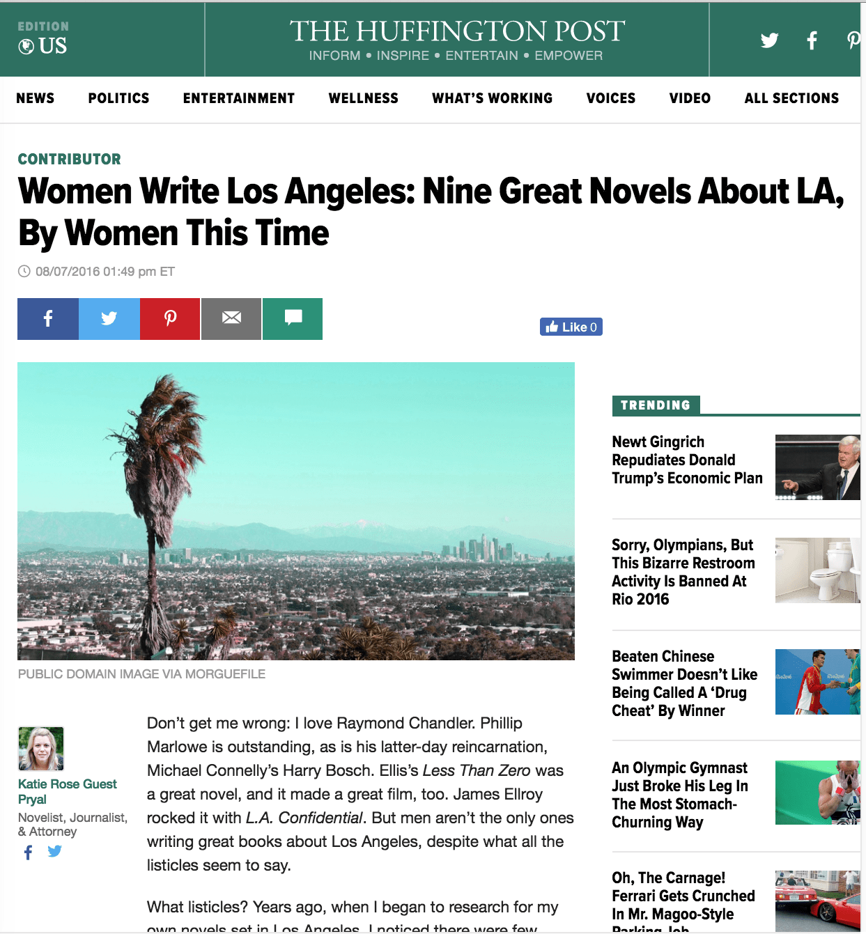 Huffington Post: Women Write Los Angeles