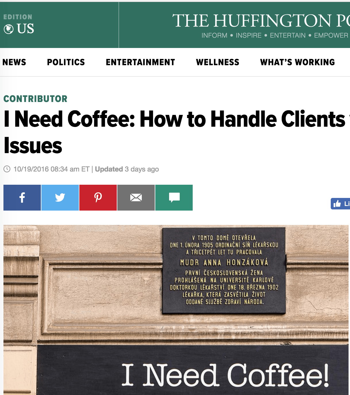Huffington Post: How to Handle Clients with Boundary Issues