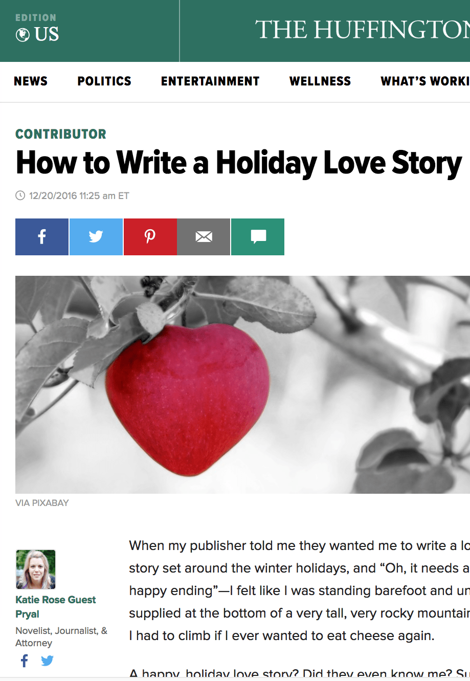 Huffington Post: How to Write a Holiday Love Story