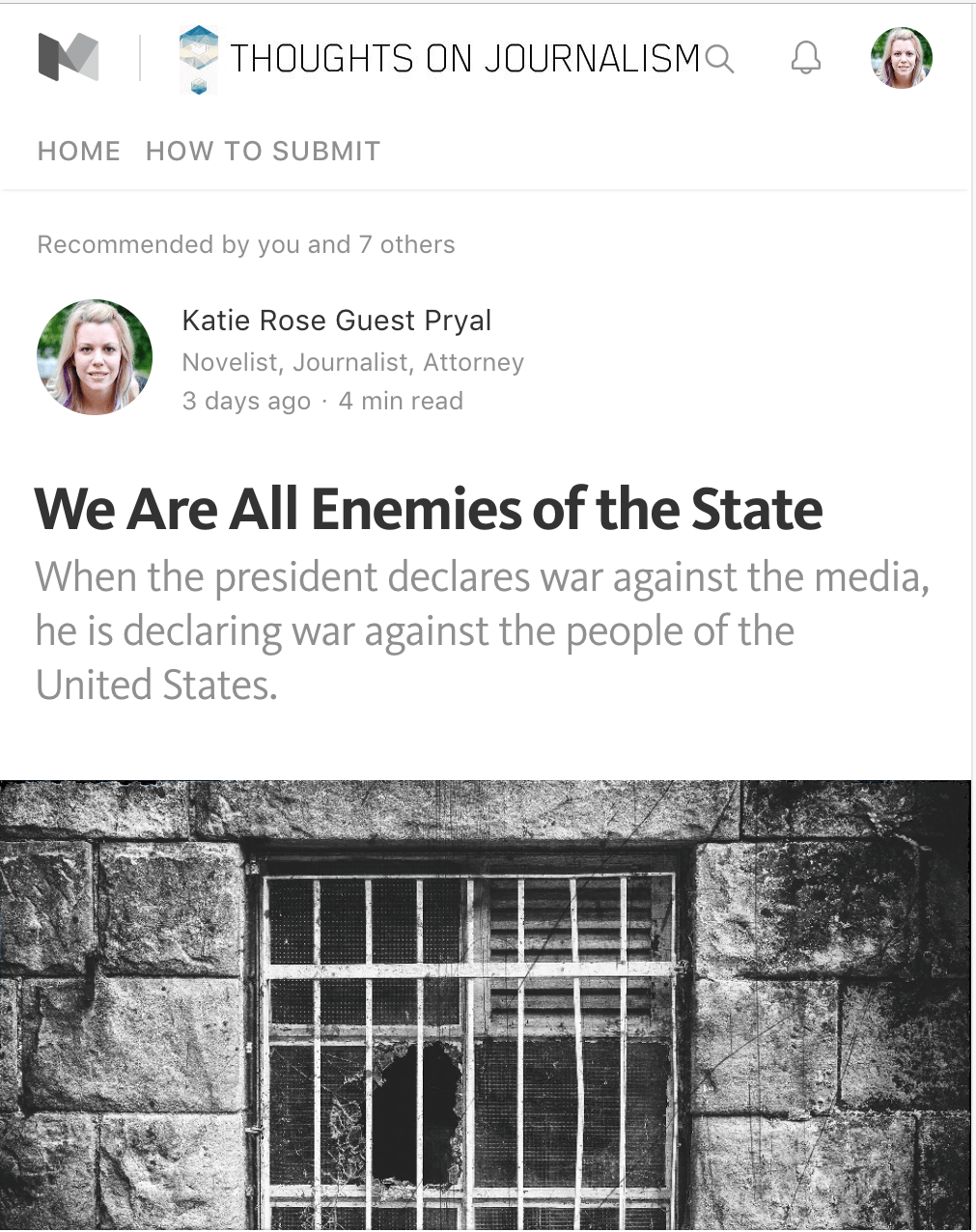 Thoughts on Journalism: We Are All Enemies of the State