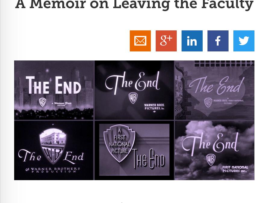Chronicle Vitae: A Memoir on Leaving the Faculty