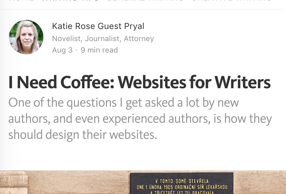 Writers on Writing: I Need Coffee: Websites for Writers