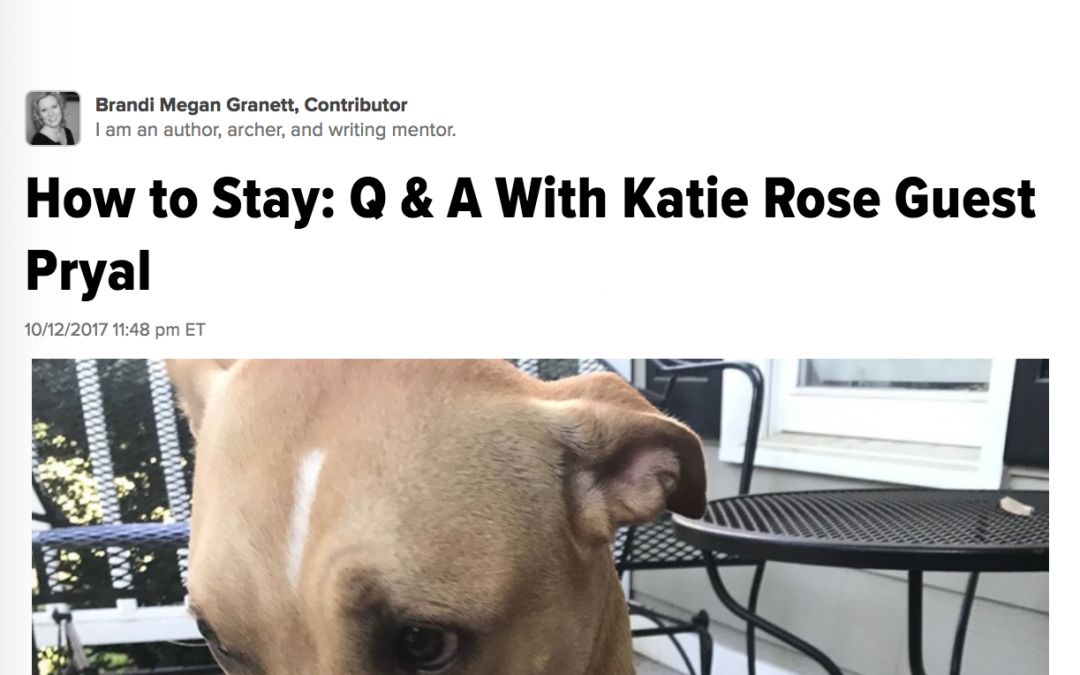 Huffington Post: HOW TO STAY Q & A