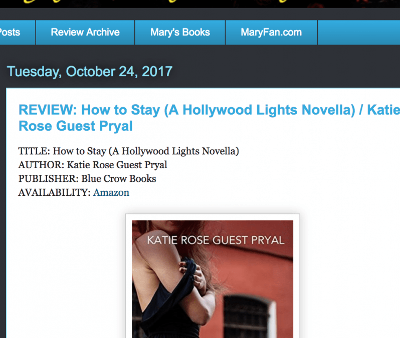 Author Mary Fan: Review of HOW TO STAY