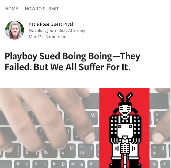 Thoughts on Journalism: Playboy Sued Boing Boing—They Failed. But We All Suffer For It.