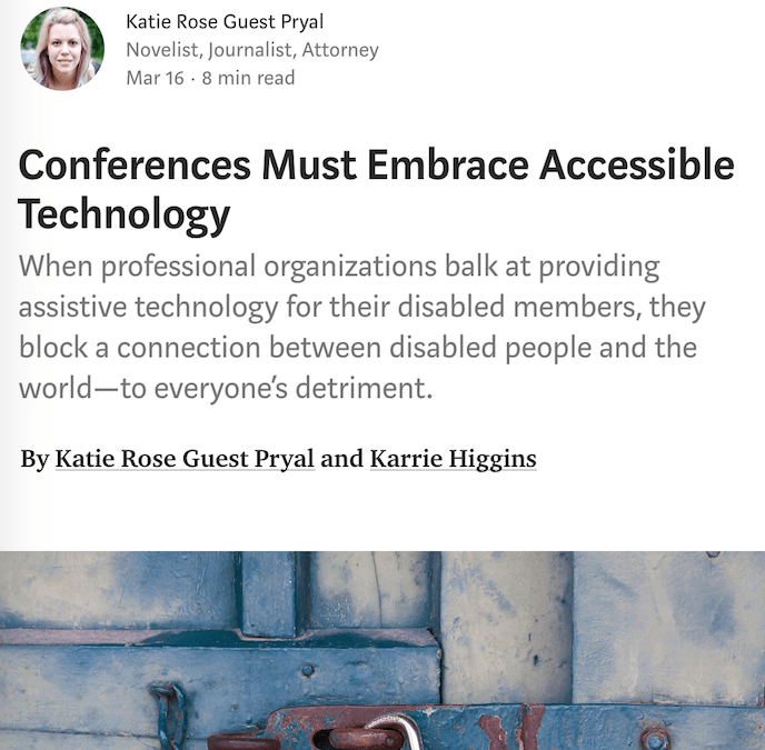 Disability Stories: Conferences Must Embrace Accessible Technology