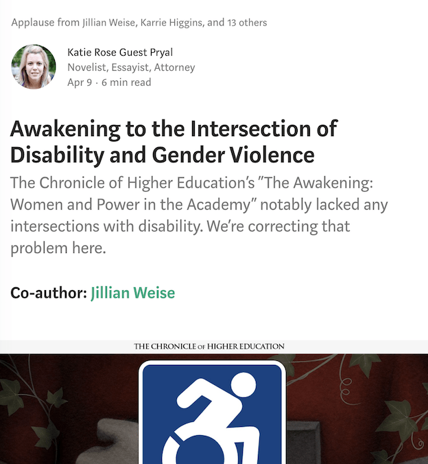 Disability Stories: Awakening to the Intersection of Disability and Gender Violence