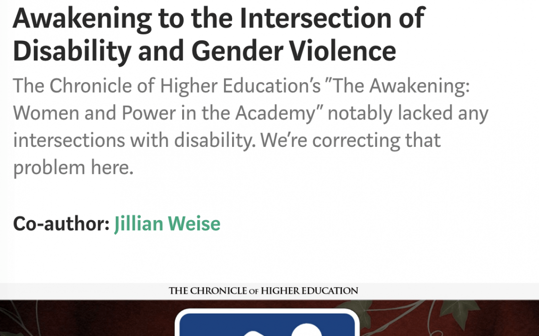 Disability Acts: Awakening to the Intersection of Disability and Gender Violence
