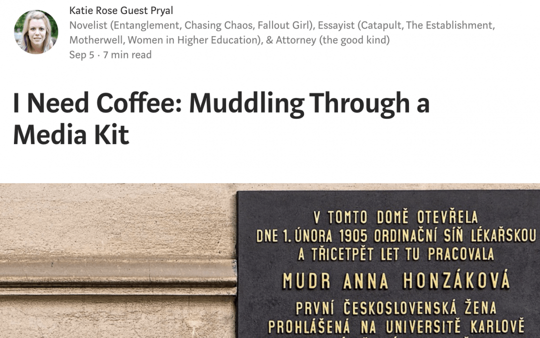 Writers on Writing: I Need Coffee: Muddling Through a Media Kit