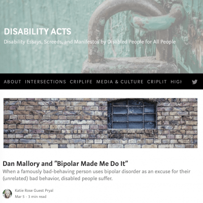 Articles on Disability & Mental Health | Katie Rose Guest Pryal