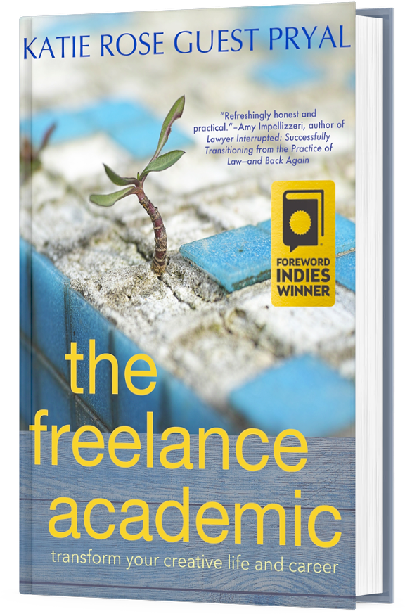 3-dimensional image of my book THE FREELANCE ACADEMIC