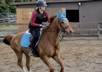 Me riding Leroy at the gallop.